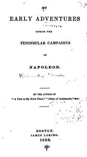 Cover of: My Early Adventures During the Peninsular Campaigns of Napoleon | Selina Bunbury
