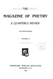 Cover of: The Magazine of Poetry | Charles Wells Moulton