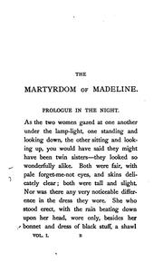 Cover of: The martyrdom of Madeline