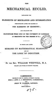 Cover of: The mechanical Euclid, containing the elements of mechanics and hydrostatics