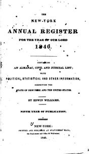 Cover of: The New York Annual Register