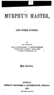 Cover of: Murphy's Master, and Other Stories