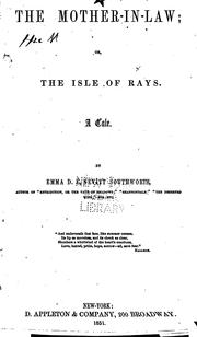 Cover of: The Mother-in-law, Or, The Isle of Rays a Tale