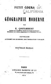 Cover of: Petit cours de geographie moderne