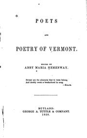 Cover of: Poets and poetry of Vermont
