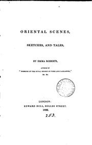 Cover of: Oriental scenes, sketches and tales [in verse]