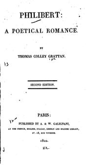 Cover of: Philibert: A Poetical Romance | Thomas Colley Grattan