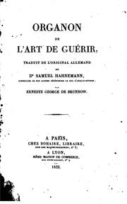 Cover of: Organon de l'art de guérir..