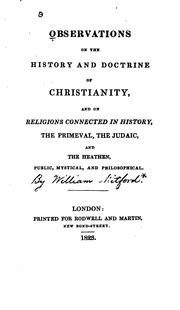 Cover of: Observations on the History and Doctrine of Christianity: And, as ..