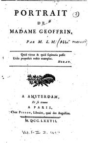 Cover of: Portrait de Madame Geoffrin