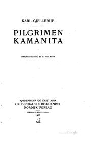 Cover of: Pilgrimen Kamanita