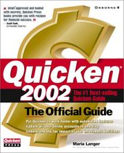 Cover of: Quicken(R) 2002: The Official Guide