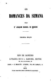 Cover of: Os romances da semana