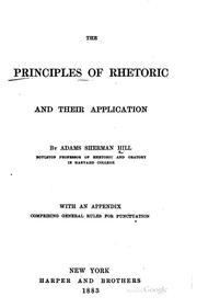 Cover of: The principles of rhetoric and their application
