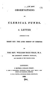 Cover of: Observations on clerical funds, a letter