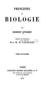 Cover of: Principes de biologie