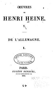 Cover of: Oeuvres de Henri Heine