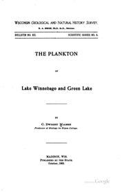 Cover of: The Plankton of Lake Winnebago and Green Lake | Charles Dwight Marsh
