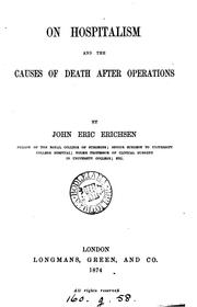 Cover of: On hospitalism and the causes of death after operations | John Eric Erichsen