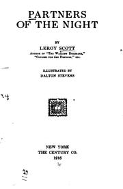 Cover of: Partners of the Night | Leroy Scott