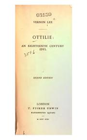 Cover of: Ottilie: An Eighteenth Century Idyl
