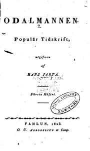 Cover of: Odalmannen: popular tidskrift