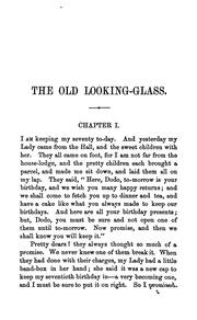 Cover of: The old looking-glass; or, Mrs. Dorothy Cope's recollections of service | Maria Louisa Charlesworth