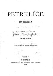 Cover of: Petrklíče: báchorka