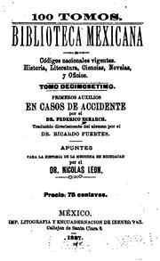 Cover of: Primeros auxilios en casos de accidente