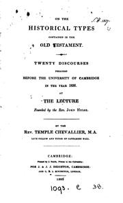 Cover of: On the historical types contained in the Old Testament, 20 discourses ..