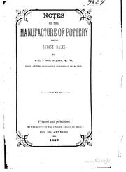 Cover of: Notes on the Manufacture of Pottery Among Savage Races | Charles Frederick Hartt