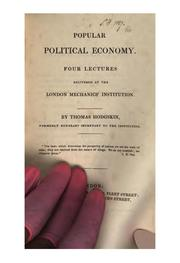 Cover of: Popular political economy, 4 lects