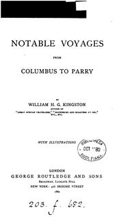 Cover of: Notable voyages, from Columbus to Parry