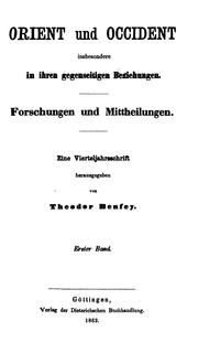 Cover of: Orient und Occident