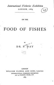 Cover of: On the Food of Fishes