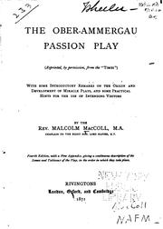 Cover of: The Ober-Ammergau Passion Play