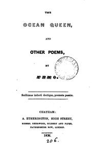 Cover of: The ocean queen, and other poems, by Nemo | Henry Gardiner Adams