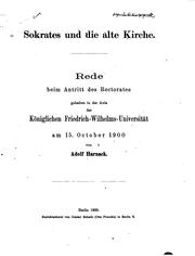Cover of: Sokrates und die alte Kirche