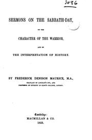 Cover of: Sermons on the Sabbath-day: On the Character of the Warrior, and on the ..