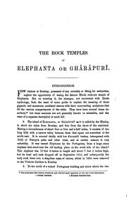 Cover of: The rock-temples of Elephanta or Ghârâpurî