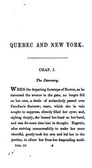 Cover of: Quebec and New York; Or, the Three Beauties: An Historical Romance of 1775 | J. H. Ingraham