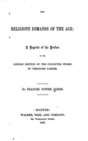 Cover of: Religious Demands of the Age: A Reprint of the Preface to the London Edition ..