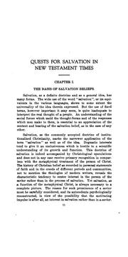 Cover of: Quests for Salvation in New Testament Times | Charles James Ritchey