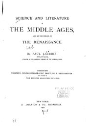 Cover of: Science and Literature in the Middle Ages and at the Period of the ..