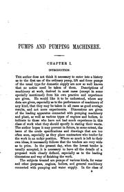 Cover of: Pumps and Pumping Machinery | Frederick Colyer