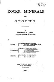 Cover of: Rocks, Minerals, and Stocks