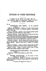 Cover of: Some rough materials for a history of the hundred of North Erpingham in the ..