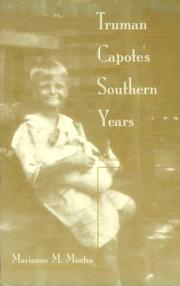 Cover of: Truman Capote's southern years
