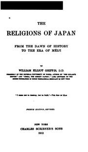 Cover of: The Religions of Japan from the Dawn of History to the Era of ,eiji