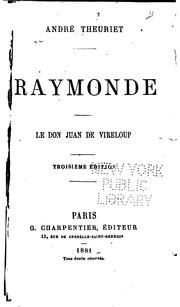 Cover of: Raymonde: Le Don Juan de Vireloup